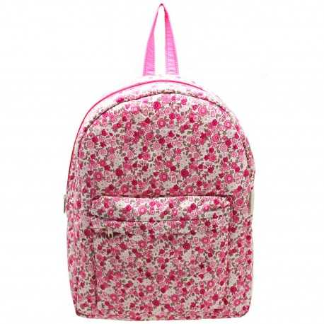 Sac à dos fille léger liberty rose