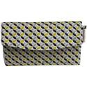 Portefeuille jaune et noir