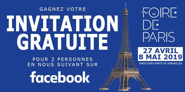 invitation gratuite foire de Paris 2019