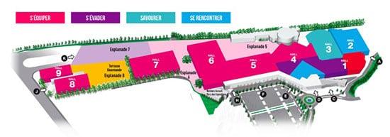 plan de la Foire de Toulouse 2019