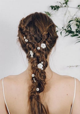 Vous pouvez commander une coiffure de mariage