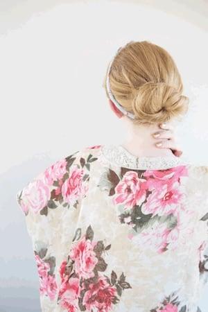 Idée coiffure chignon